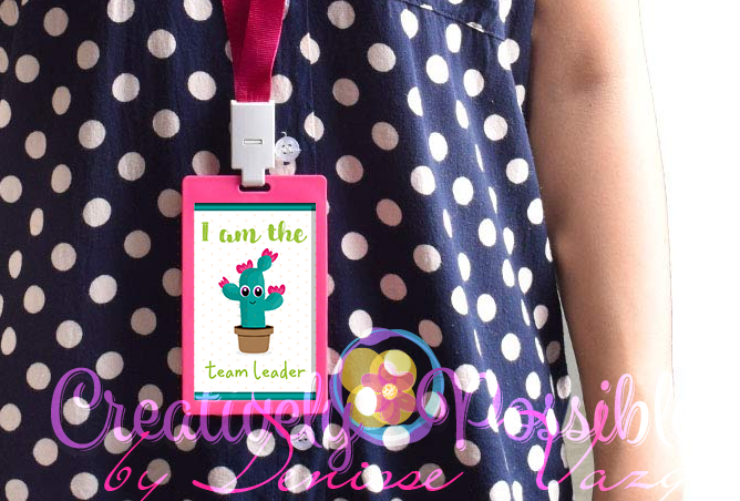 Badge with printable for classroom roles.